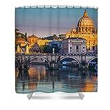 Pixels Shower Curtain (74'' x 71'') ''Saint Peters Basilica''