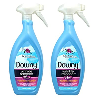 Downy Wrinkle Releaser Plus, Light Fresh Scent, 33.8 Fluid Ounce (Pack of 2)