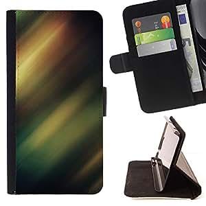 For Samsung Galaxy S6 Case , Borealis Sky Night Lights Verde- la tarjeta de Crédito Slots PU Funda de cuero Monedero caso cubierta de piel
