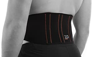 XO KINETICS - Premium Lower Back Lumbar Support Belt Brace with Copper Infused Nylon- Best for Sport or Work Related Low Back Pain - Comfortable Lightweight Design for Both Men & Women.