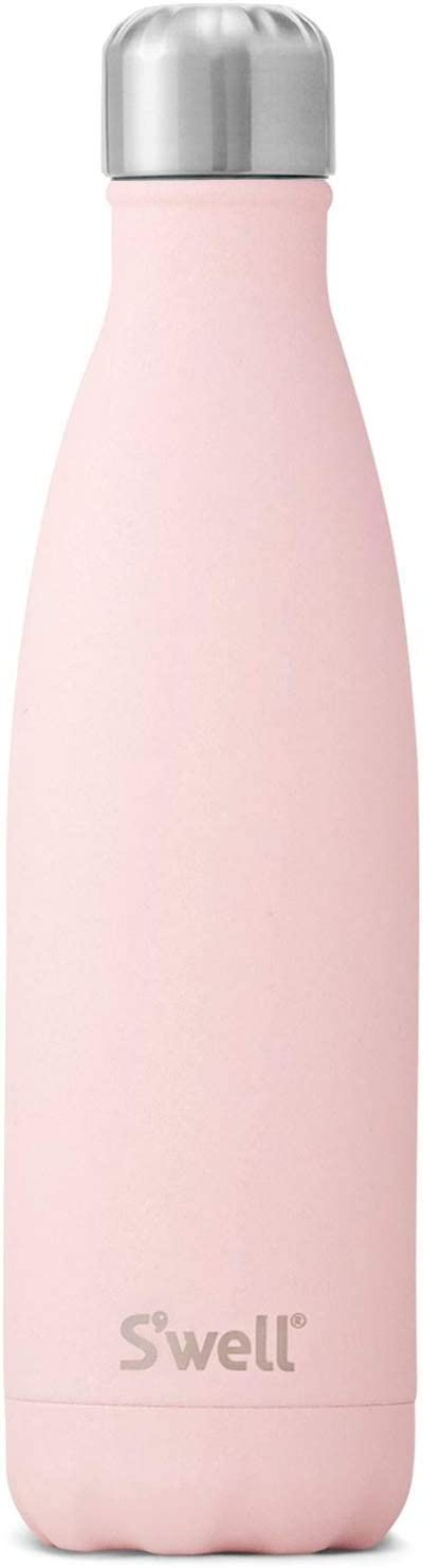 S'well Vacuum Insulated Stainless Steel Water Bottle, Pink (Pink Topaz), 750ml (25 Oz)