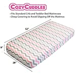 Premium-Fitted-Baby-Crib-Sheets-Set-Boy-and-Girl-100-Natural-Jersey-Cotton-Fitted-Crib-Sheet-for-Standard-Crib-Bed-Mattress-52-x-28-x-9-Great-Baby-Shower-Gifts-2-Pack-Pink