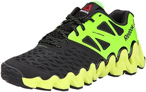 4d00fc5036e77 Reebok Men's Zigtech Big N Tough Running Shoe, Black/Solar Green/Solar  Yellow/White, 9 M US. Loading images.