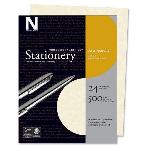 Wholesale CASE of 10 - Wausau Astroparche Parchement Finish Paper-Parchment Finish Paper, 24 lb., Letter Size, 500/BX, Natural by WAU