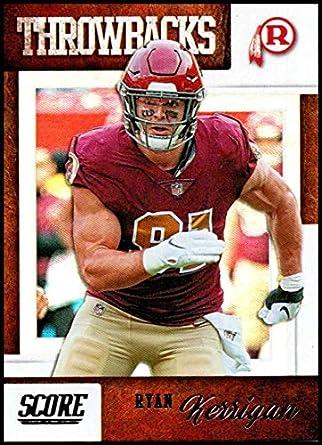 5737a1ae17a1bb 2019 Score Throwbacks Football #13 Ryan Kerrigan Washington Redskins  Official NFL Trading Card from Panini