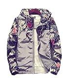 Banana Bucket Floral Bomber Jacket Men Hip Hop Slim Fit Flowers Bomber Jacket Coat Men's Hooded Jackets