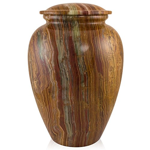 Perfect Memorials Large Tiger Eye Marble Grecian Cremation Urn ()