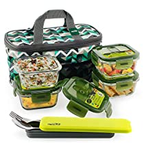 Home Puff Borosilicate Glass Lunch Box -Microwavable AirVen