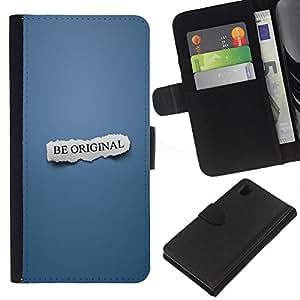 YiPhone /// Tirón de la caja Cartera de cuero con ranuras para tarjetas - SER ORIGINAL - Sony Xperia Z1 L39