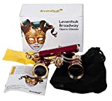 Levenhuk Broadway 325N Opera Glasses (red lorgnette with LED light) 3x with accessory