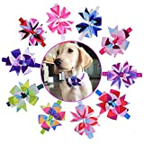 yagopet 10pcs/pack Hot Dog Bow Ties pinwheel Bowknot Patterns Cat Dog Bowties Collar Holidays Dog Ties Dog Grooming Accessories