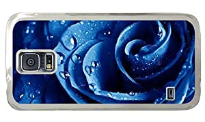 Hipster slim Samsung Galaxy S5 Case Rose Blue Zoom PC Transparent for Samsung S5 by runtopwell