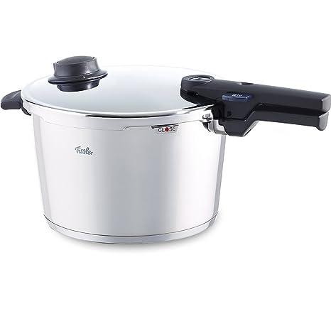 Fissler, Olla a presión, 26 cm, 8 litros, Para todo tipo de cocinas, Acero inoxidable, Vitavit Comfort