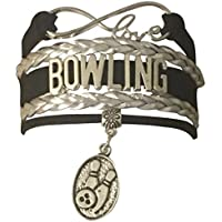 Infinity Collection Bowling Jewelry- Bowling Charm Bracelet for Women and Girls, Perfect Bowling Gifts