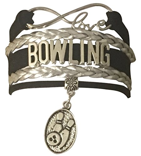Bowling Collection - Infinity Collection Bowling Jewelry- Bowling Charm Bracelet Perfect Bowling Gifts for Females