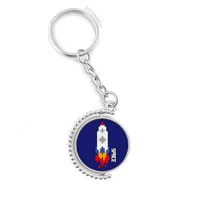 DIYthinker Vehículo Espacial de Rocket Fuego Universo Pixel ...