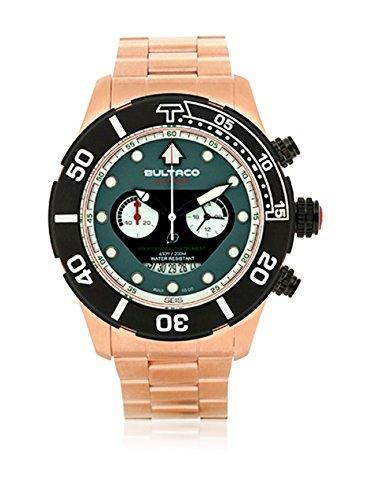 Bultaco Reloj analogico para Hombre de Cuarzo con Correa en Acero Inoxidable H1AG48C-IB1-A: Amazon.es: Relojes