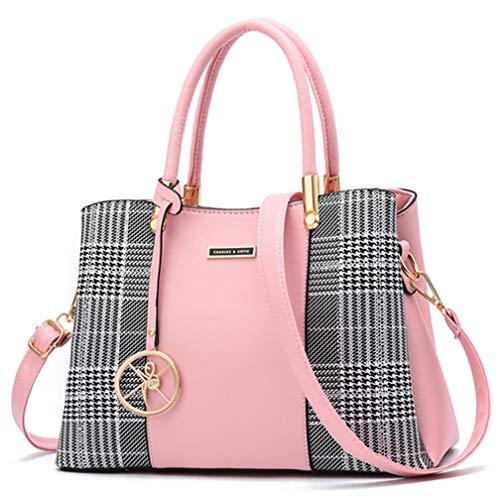 Women Purses and Handbags Top Handle Satchel Shoulder Bags Messenger Tote Bag For Ladies (p-Pink) ()