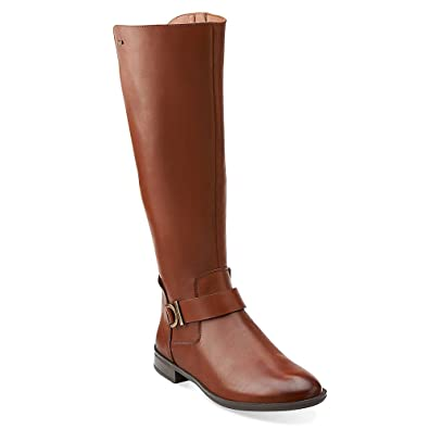 Amazon.com | Clarks Women's Mint Treat GTX Riding Boot | Knee-High
