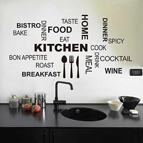 Wall Sticker,Ikevan Hot Kitchen Letter Removable Vinyl Wall Stickers Mural Decal Quotes Art Home Dec - Wall Mural Model