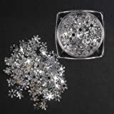 1 Box of Ultra Thin Nail Art Decoration Snow Flake 3D White Slices Sequins Piece 15g Manicure Accessories