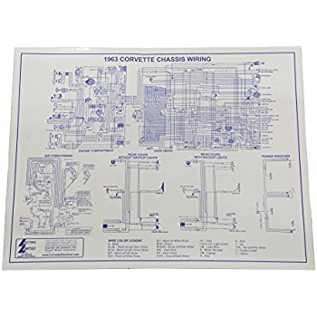 1963 corvette wiring diagram 17 x 22 laminated