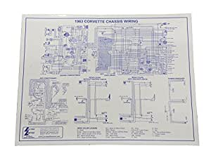 Amazon.com: 1963 Corvette Wiring Diagram 17 x 22 Laminated ...