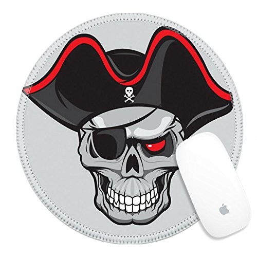 Danger Mouse Head Costumes (Luxlady Round Gaming Mousepad 36132304 pirate skull with hat isolated for tattoo or t shirt design)