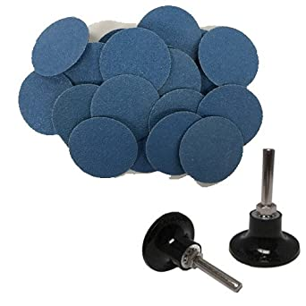 "50-3/"" Roloc Zirconia Quick Change Sanding Disc 80 Grit and Mandrel"