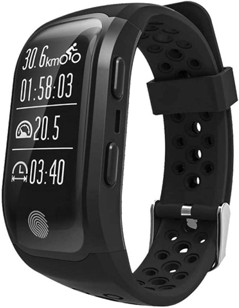 Burbe La Dama Inteligente Reloj con el Deporte del Monitor del GPS Pulsera de posicionamiento Inteligente de la frecuencia cardíaca en Tiempo Real brazal Brazalete IP68 Hombre Inteligente podóm.