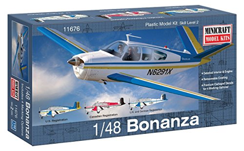 Minicraft Model Kits - Minicraft Bonanza Airplane Model Kit (1/48 Scale)