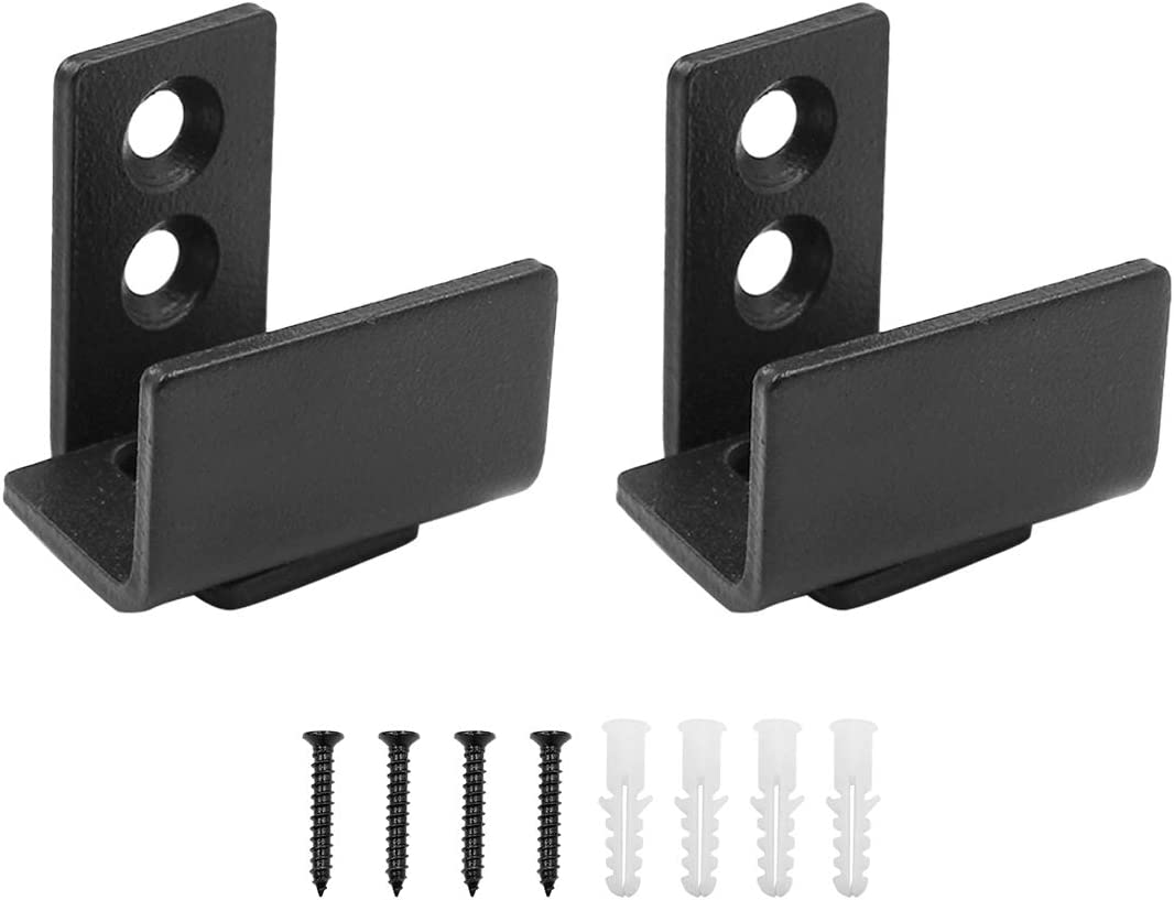 TOUHIA 2pcs Sliding Barn Door Floor Guide U Shape Adjustable Wall Mounted Floor Guide for Grooved and Non-Grooved Doors