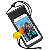 Waterproof Cell Phone Case, RANVOO Dry Bag Pouch with Adjustable Lanyard for iPhone X/8 Plus/7 Plus/6s/6 Plus, Samsung Galaxy S9 Plus/S8 Plus/S8, Note 8/7, LG, Google Pixel, HTC10, Up to 6.2'' - Black