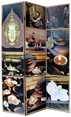 ih casa décor MX-1035 Buddha Room Divider, Multicolor
