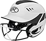 Rawlings Sporting Goods Senior Velo Sized Softball Helmet, White Black