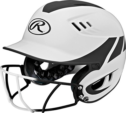 Rawlings Sporting Goods Junior Velo Sized Softball Helmet, White Black