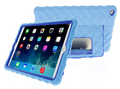 2 Air BLUE Stand with Hideaway Cases Cover BLUE LIGHT Absorbing Shock ROYAL Rugged Blue Protective Silicone Gumdrop Apple iPad Light Dual Layer Case 5fq4w5E