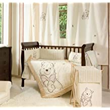 Tan Winnie the Pooh 4 Piece Crib Bedding Set