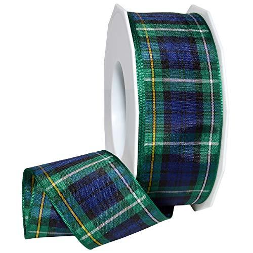 Morex Ribbon 975 Edinburgh Ribbon 1.5 inches by 27 Yards Campbell Tartan (Scottish Tartan Ribbon)