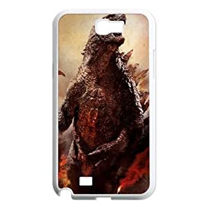 Samsung Galaxy N2 7100 Cell Phone Case White Godzilla LV7900611