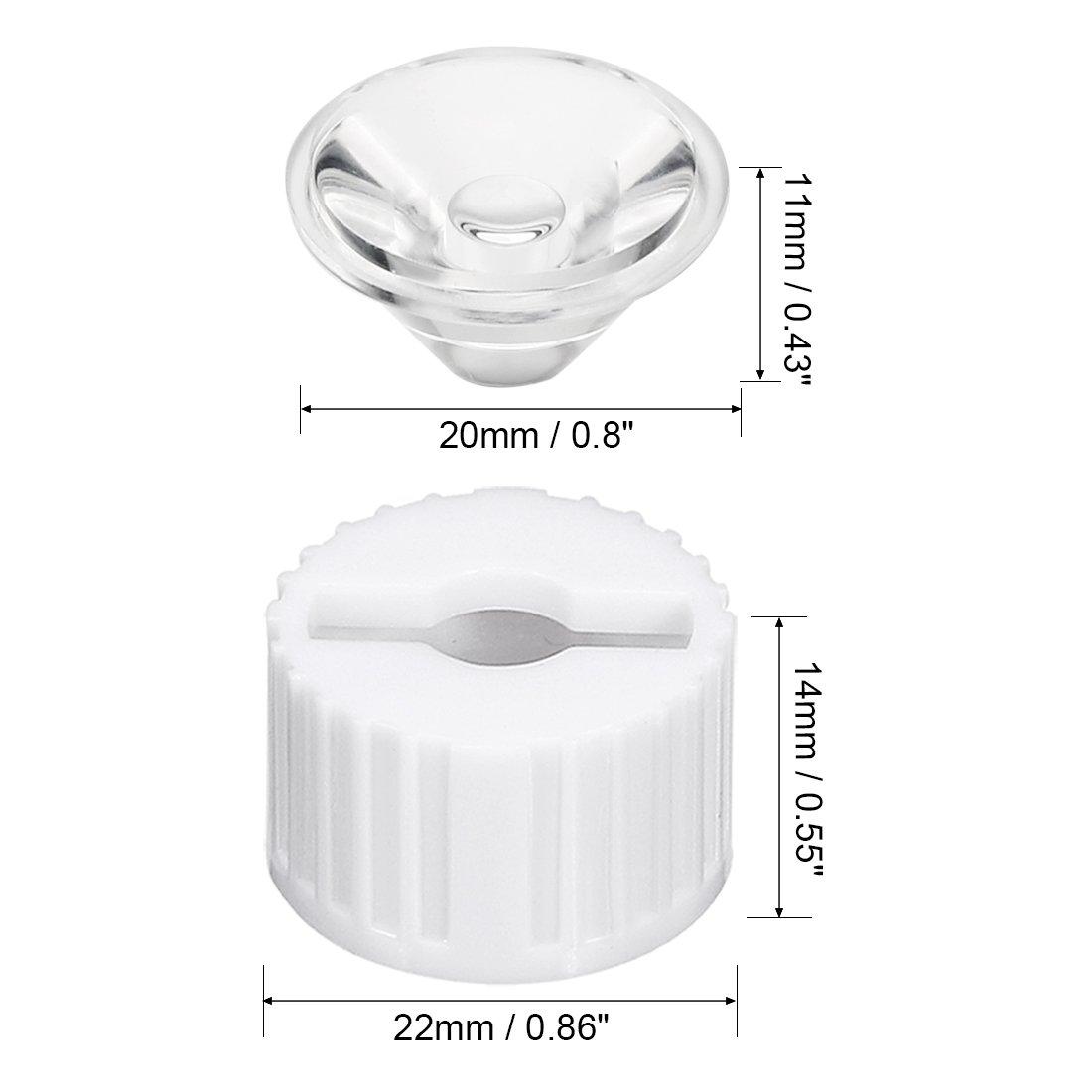 10 pcs 20mm LED Lens 45 Degree with Black Holder for 1W 3W High Power LED Light