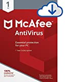 McAfee AntiVirus Protection|Internet Security|1 PC|1 Year Subscription|PC Download  | 2019 Ready