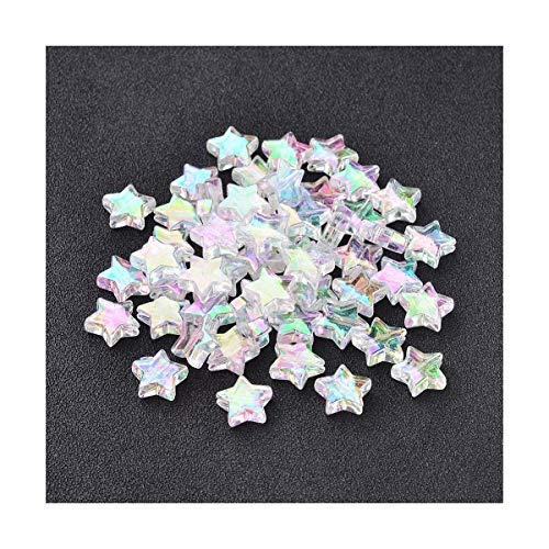 Packet 100+ Clear Acrylic 10mm AB Star Beads Y12145 (Charming Beads)]()
