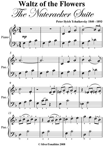 Waltz of the Flowers Nutcracker Suite Tchaikovsky Easiest Piano Sheet Music (Waltz Of The Flowers Piano Sheet Music Easy)