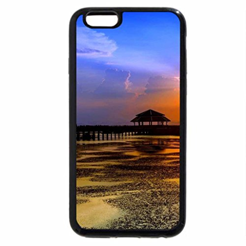 iPhone 6S / iPhone 6 Case (Black) sunset on a pier at low tide