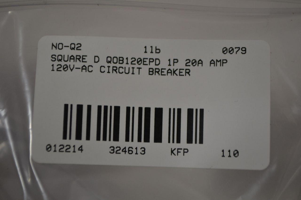 Schneider Electric Qob120epd Miniature Circuit Breaker 120 240 Volt Siemens Qf220 20amp 2 Pole 240volt Ground Fault Interrupter 20 Amp Motor Protector 600v 30a Interrupters