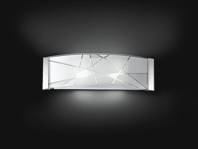 Applique vetro decorato xe w amazon illuminazione