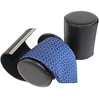 HomgatyEstuche de piel para corbatas, diseño cilíndrico, color