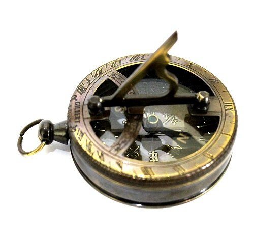 Collectibles Buy Nautical Gilbert Antique Style Pocket Compass Brass Finish ()