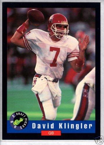 DAVID KLINGLER 1992 Classic Draft RC #2 (1992 Classic Draft)